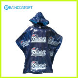 Disposable Clear Custom Printed PE Rain Poncho Rpe-028