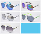 Men′s Cool Glasses with Pattern Temples for Pilot