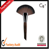 Large Rounded Fan-Shaped Cosmetic and Makeup Brush.