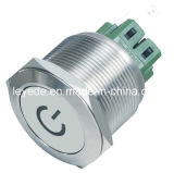 Vandalproof LED Push Button Switch L25 (Dia. 25mm) Stainless Steel