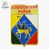 Hot Products Casting Enamel Russia Cavalryman Gold Custom Military Badges