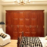 Oppein Red Solid Wood Cherry Hotel Wooden Wardrobes (YG21221)