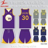 Healong New Design Sportswear Gear Any Number Team Club Sublimation Basketball Jerseys