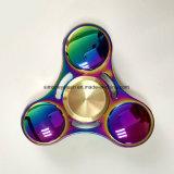 Colorful Rainbow 3 Leaves Metal Fidget Finger Spinner Toys