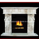 Antique Marble Fireplace Carved Figures (SY-MF171)