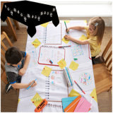 Kids Draw on Disposable Paper Tablecloth with Pens