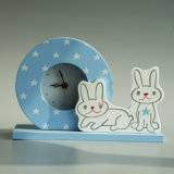 New Wooden Rabbit Table Alarm Clock