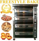 16 Trays Gas Deck Pizza Oven with Steam and Stone (JM-416Q)