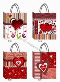 Valentine Paper Gift Bag with Heart Designs (JL08)