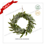 18 Inch Customized Plastic Artificial Wreath Christmas Decoration