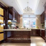 Bck Red Oak Wood Kitchen Cabinet