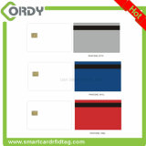 two colors sle4442 smart card with 8.4mm mag magnetic stripe