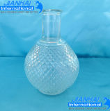 Elegant Embossed Glass Perfume Bottle for Cosmetic Storage