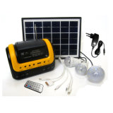 Portable LED Home Lighting Solar Power System with FM