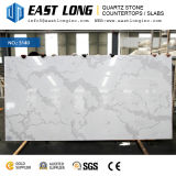 Artificial Quartz with Marble Color Polished Stone Surface for Cabinet Tops