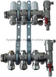 3-Branch Brass Manifold Set for Floor Heating System