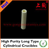 High Purity Long Type Cylindrical Crucibles