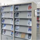 Double Column Double-Sided 6 Layers Library School Magazine Rack/Book Shelf