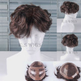 High Recommend Human Hair Men′s Toupee