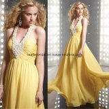 Yellow Ladies Party Dress Chiffon Prom Formal Evening Gowns Z603