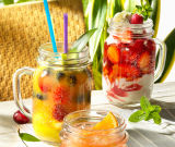 Beverage Mason Jar with Lid for Juice of Glassware