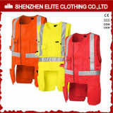 High Visibility Sleeveless Workwear Vest in Plus Size (ELTHVVI-13)