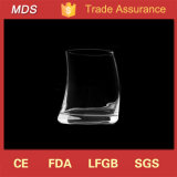Hot Sale Novelty Designed Oval Curved Whisky Glass