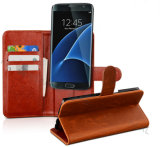 Luxury Wallet PU Flip Leather Phone Case for Samsung Galaxy S7 Edge Phone Cover