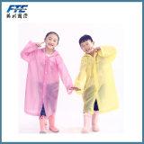 PU Stripe Conjoined Raincoat for Children