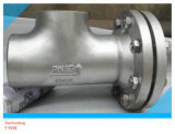 Seamless Tee Right Angle Flanged Stainless Steel Strainer