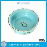 Enamel Round Ceramic Pets Dish Bowl