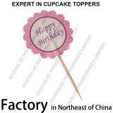 Cartoon Shape Cupcake Decorative Topper Flag Toothpicks Child Birthday