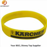Bright One Yellow Silicon Wristband with Black Writing Printing