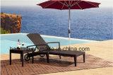 Outdoor /Rattan / Garden / Patio Furniture Rattan Lounge Chair & Side Table Set (HS 1013CL& HS 7203ET)