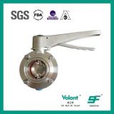 Stainless Steel Hygienic Sanitary 3A Clamped Butterfly Valve