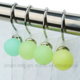 Colorful Resin Shower Hooks with Polyresin Balls