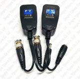 CCTV Coax BNC Video Power Balun Transceiver to Cat5e 6 RJ45 Connector