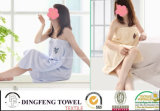 100% Cotton Terry Bath Towel Robe with Embrodiery Df-8855