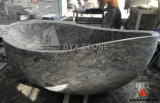 Chinese Juparana Natural Granite Stone Bathroom Bathtub with Boat Shape