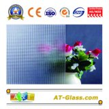 3-8mm Clear Crystal Patterned Glass Used for Window, Furniture, etc