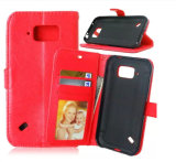 High-End Samsung Flip Genuine Leather Wallet Cell Phone Case