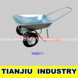 Galvanized Wheel Barrow Wb6211 with Double Wheel