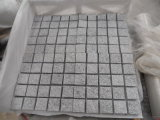 Cobble Stone on Mesh Sheet, Grey Granite Cobblestone, Cube Stone