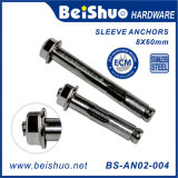 Stainless Steel Hex Nut Expansion Bolt Sleeve Anchor