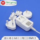 12W Series Interchangeable Universal 12V1a AC/DC Adapter with Us EU Au UK Jp Cn Plug