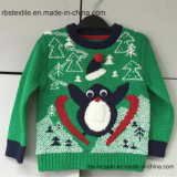 Boys Penguin Acrylic Jumper - Xmas True Kids Knitted Sweater