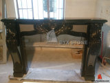Absolute Black Granite Polished Fireplace for Indoor Decoration