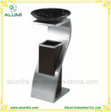 Hotel Stainless Steel Ashtray Bin with Marble Basin