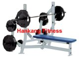 gym machine, hammer strength, fitness equipment, body-building, Olympic Bench Weight Storage (HS-4012)
