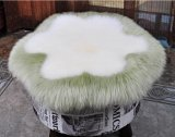 Round Long Wool Sheepskin Seat/Chair Cushion in Flower Shape